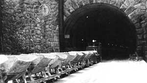 El túnel de La Engaña, en construcción
