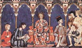 Alfonso X el Sabio (1221-1284) y su corte