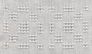 Lace Bronson in white 12/2 cotton.