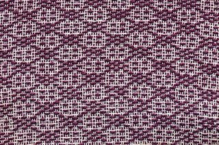 A spot Bronson sample with white cotton warp and a heavier colored weft.