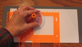 Creating an aperture with a shape cutter.