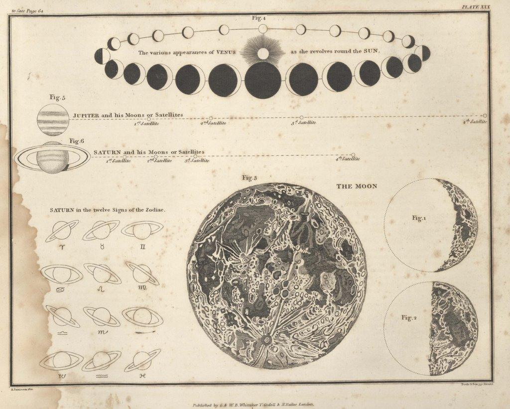 Moon Calendar Illustration : Bibliodyssey jamieson celestial atlas