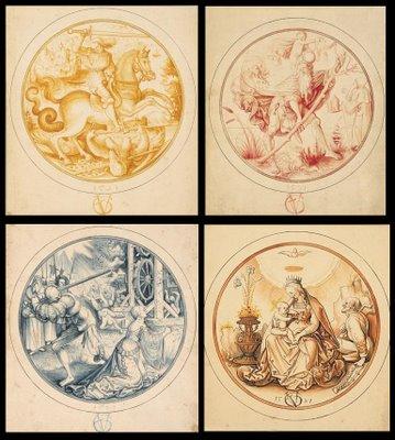 Four circular vignettes
