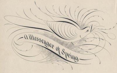 Penmanship scrapbook example - 'spring'