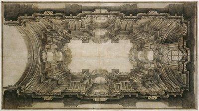 Vault of San Ignazio - Andrea Pozzo sketch
