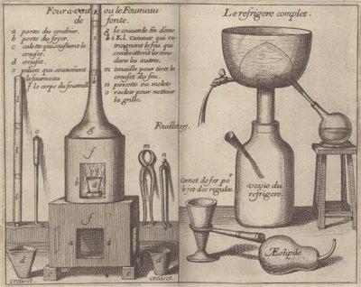 Four à vent ou le fourneau de fonte, Réfrigéré complet, Aeolipile