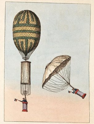 Garnerin's Ascent and Descent with his Balloon and Parachute