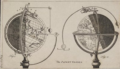 The Patent Globes - terrestrial and celestial globes