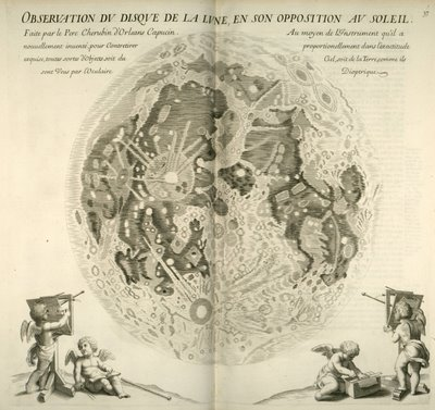 Chérubin d'Orléans - Map of the Moon (probably after Hevelius)