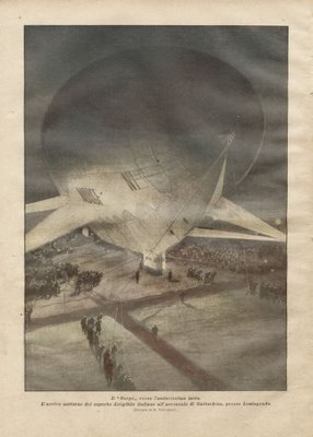 Dirigible from 1926 - 'La Domenica del Corriere'