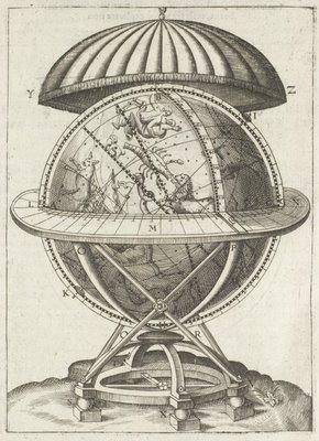 'Astronomiae instauratae mechanica' 1602 Tycho Brahe - Celestial Globe