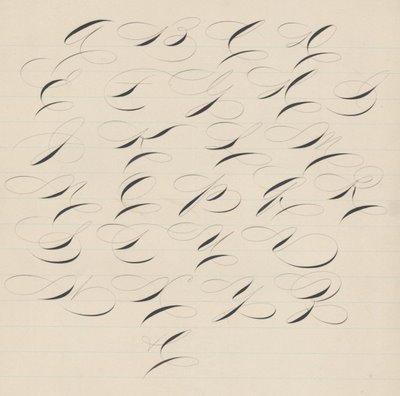 penmanship letters
