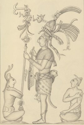 Mayan ruler and servants