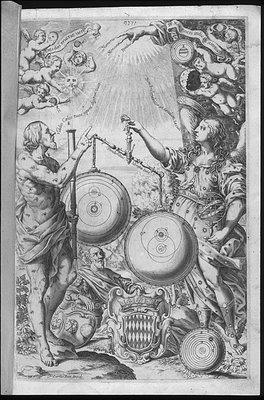 Frontpiece - Giovanni Battista Riccioli 'Almagestum novum astronomiam veterem novamque', 1651