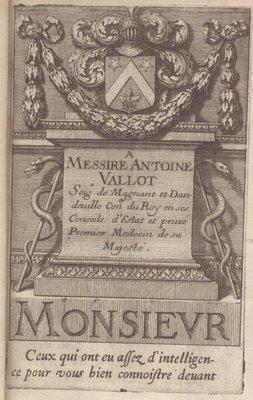 Armes d'Antoine Vallot de Magnant Dandeuille