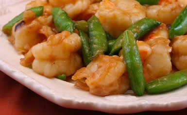 ... for Stir-Fried Shrimp with Snow Peas (or Sugar Snap Peas) and Ginger