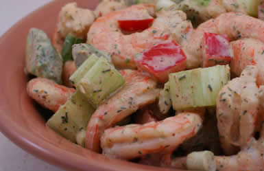 Kalyn's Kitchen®: Shrimp, Avocado, and Red Pepper Salad Recipe (Low ...