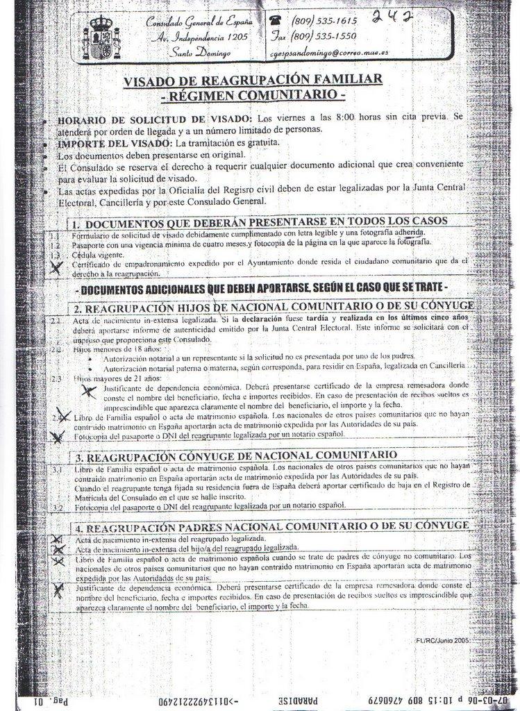 Inmigraci n una oportunidad requisitos de la embajada de for Acta familiar