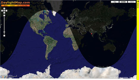 Things you dont see every day day light map shows the pattern of night and day on a google map for any area of the earth for any date and time next time you initiate a chat or gumiabroncs Gallery