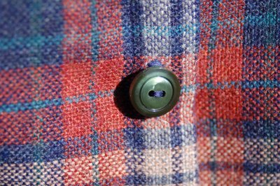 wool jacket, center front and button