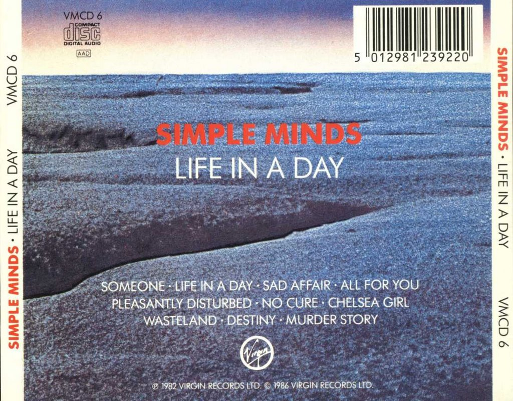 Image result for SIMPLE MINDS LIFE IN A DAY