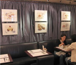 Exhibit at Petrossian Café