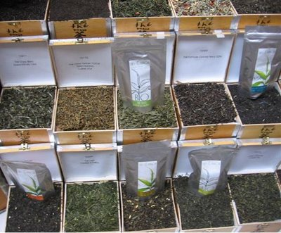 Tea samples at Le Festival de The