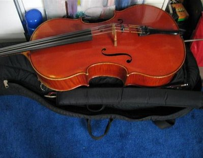Barbara's beautiful cello