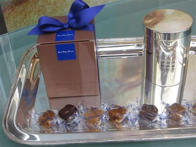 Jean-Paul Hevin's caramels on a silver platter