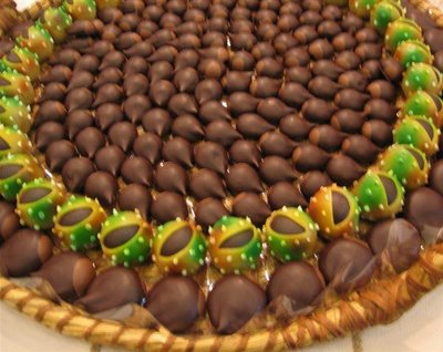 Faux chocolate chestnuts at the Salon du Chocolat