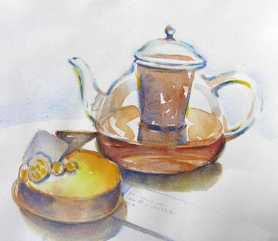 Galerie Lafayette Glass Teapot
