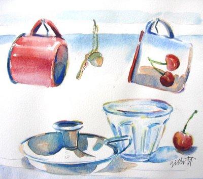 AU PETIT BONHEUR LA CHANCE watercolor