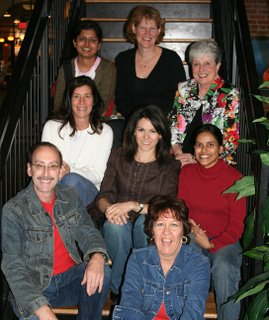 Top Row, left to right, Gunjan of Vyanjanaa; Alanna of A Veggie Venture; St. Louis food stylist and food consultant Linda Behrends; Middle Row, Lisa of Champaign Taste; Karen of FamilyStyle Food; Nupur of One Hot Stove; Bottom Row, Bruno from Bruno's Dream; special guest Kalyn Denny of Kalyn's Kitchen in Salt Lake City