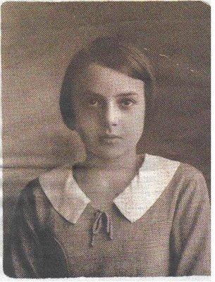 A autora durante a sua adolescência
