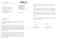 CSU Rundschreiben