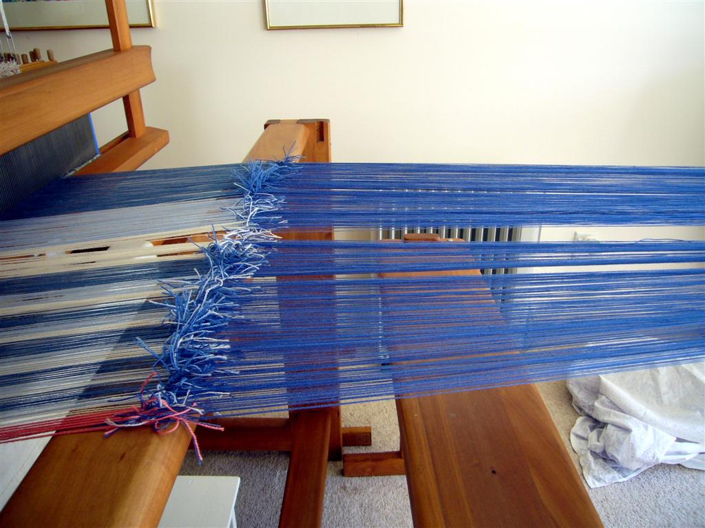 how to make a shawl on a long loom