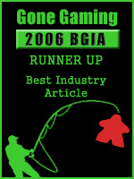This article is second runner-up, 2006 Board Game Internet Awards, Best Industry Article