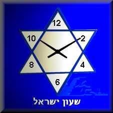שעון יהודי מגן דוד