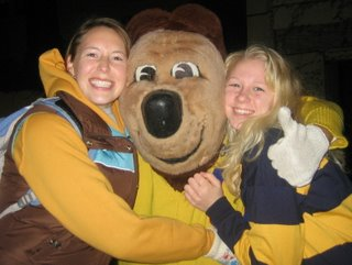 Oski with meg and Betsy