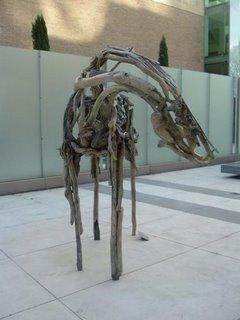 Dance Horse, sculpture by Deborah Butterfield at Portland Art Museum