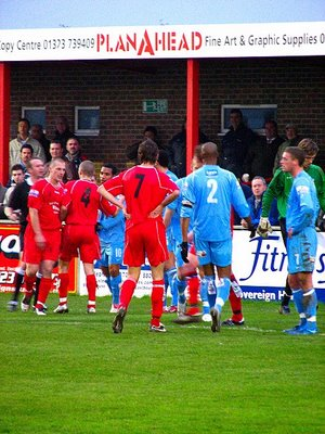 nothing like a bit of goalmouth argy bargy