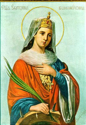 sainte Catherine d'Alexandrie, Icône russe