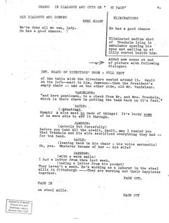 Click for a larger image of this page from the rewritten final scene for Baby Face.