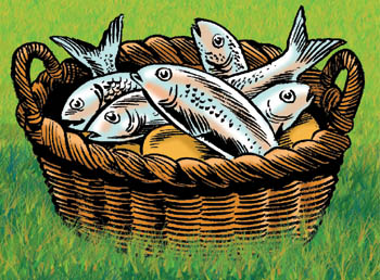The Bible illustration blog: Feeding the 5,000