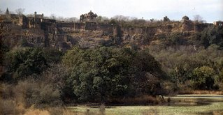 The Ranthambhor fort of the Chauhan Rajaputras