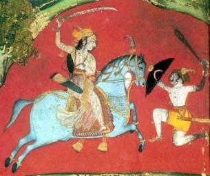Rajput princess wields a tulwar