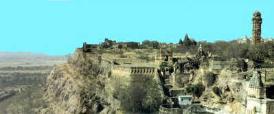 Chittorgarh dominates the plains between the Aravalli Hills and the Malwa Plateau