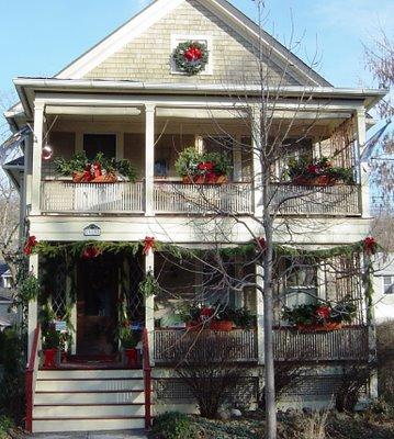 joulukoristelua Ithacassa