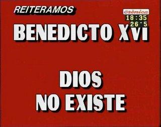 Placa roja Cronica - Dios no existe