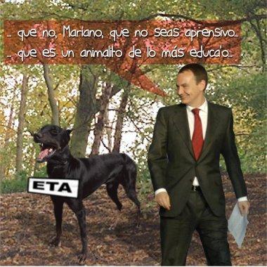 El perro que ya no accidenta mortalmente a nadie, excepto a esos dos pobres ecuatorianos que estaban en el sitio equivocado...